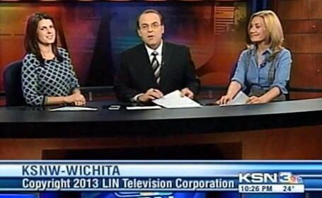 Gafa incredibila comisa de un prezentator TV din SUA, care se grabea sa ajunga acasa. VIDEO