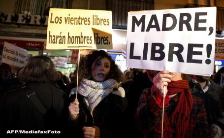 Proteste in Spania fata de legea avorturilor