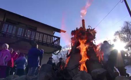 Sorici, sarmale si snowboard. Cum au petrecut turistii prezenti pe Valea Prahovei si in Poiana