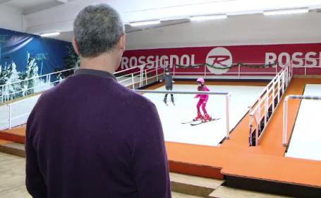 Cat costa o lectie pe primul simulator de schi din Romania, adus special la Iasi din Olanda