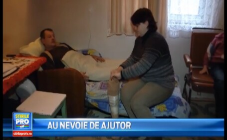 Au nevoie de ajutor. Povestea unei familii din Cluj care traieste cu greu de pe o zi pe alta