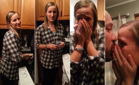 Un barbat i-a facut sotiei sale un cadou, iar ea a izbucnit imediat in lacrimi: \