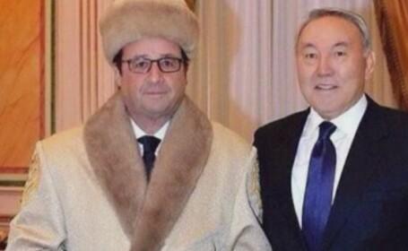 Presedintele Hollande a cerut ca aceasta poza cu el in Kazahstan sa fie stearsa imediat! \