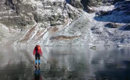 alpinisti lac
