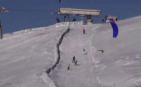 Singurii care se bucura de zapada care a lovit Romania sunt copiii si turistii. Unde se poate schia in aceasta perioada
