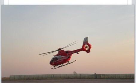ultima fotografie cu elicopterul SMURD, FB