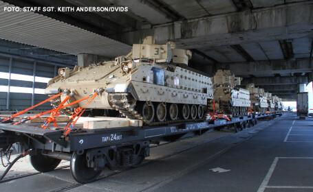 Americanii trimit tancuri si vehicule blindate in Romania. \