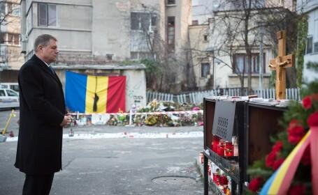 40 de zile de la Colectiv. Klaus Iohannis a mers la locul tragediei: \
