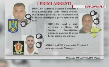 Cei 3 romani care au ucis un neamt la Roma au fost prinsi. Suspectii si victima se stiau de pe un site de intalniri intime