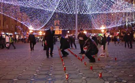 Omagiu impresionant la Timisoara, in memoria victimelor Revolutiei din \'89. Cum arata Piata Victoriei acum