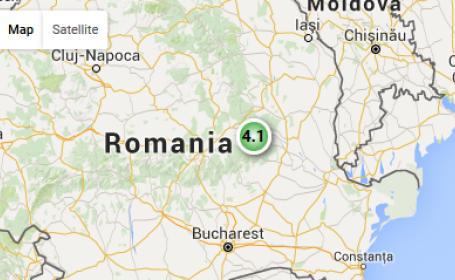Doua cutremure s-au produs miercuri seara, in Vrancea. Cel mai mare a avut magnitudinea de 4,1 pe scara Richter