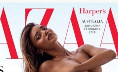 Miranda Kerr coperta Harper Bazaar