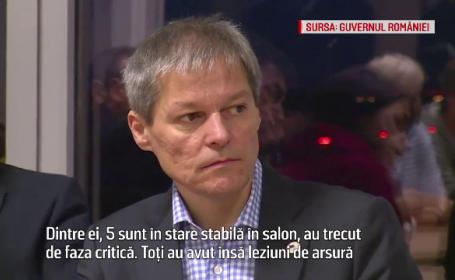 Dacian Ciolos i-a vizitat pe ranitii de la Colectiv internati in Bruxelles. Vestile bune prezentate de premier. VIDEO