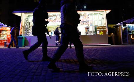 politia belgiana patruleaza in Bruxelles