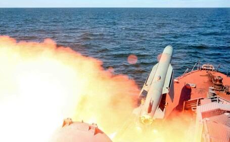 racheta trasa de pe o nava ruseasca