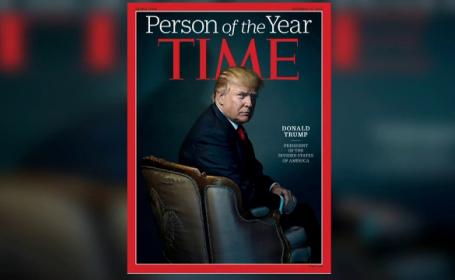 Mesajul ascuns pe care internautii l-au observat pe coperta revistei TIME, dupa ce Trump a fost numit personalitatea anului