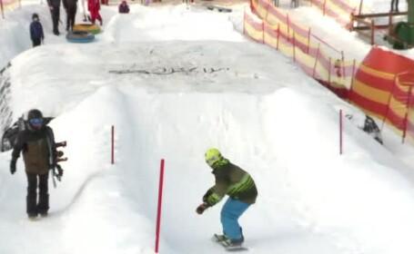Statiunea din Romania unde turistii pot practica sporturi extreme de iarna. Provocarile pe care le ofera un winterpark