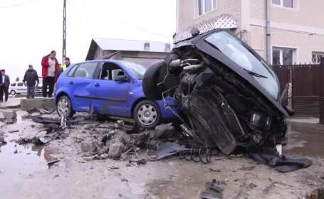 Un şofer din Dâmboviţa a făcut dezastru după ce a adormit la volan