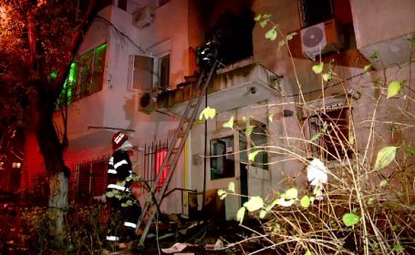 Incendiu într-un bloc din Constanța: 5 persoane au primit îngrijiri medicale