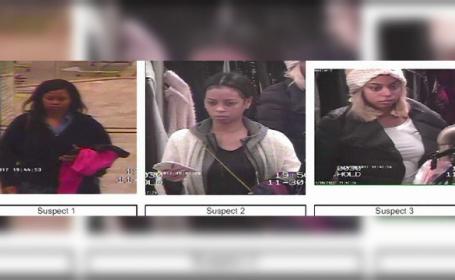 Trei suspecte de furt, care au rănit un agent, căutate de polițști