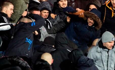 Violențe între suporterii echipelor Partizan și Steaua Roșie Belgrad: 17 răniți
