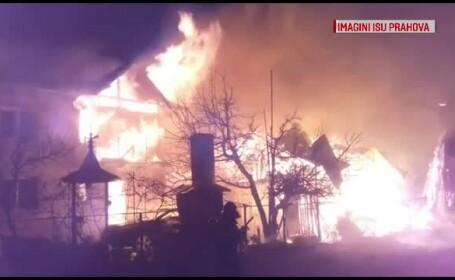 Incendiu de proporţii în Prahova. Pompierii au intervenit cu 6 autospeciale