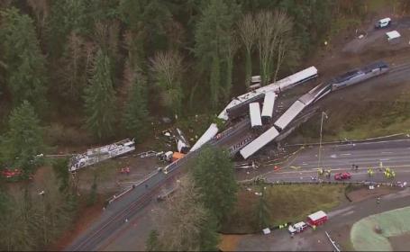 Trenul care a deraiat în SUA avea viteza de trei ori mai mare decât cea permisă. Filmul accidentului