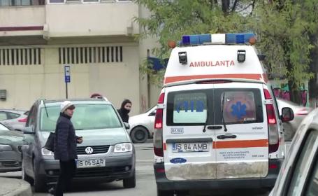 Pacient, căzut de la etajul 5 al unui spital din Iași. Este al doilea caz din această lună