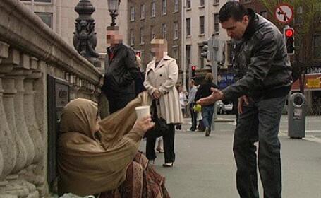 cerșetori români în Irlanda