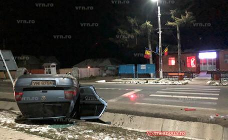 Trei oameni, la un pas să fie spulberați de un șofer de 22 de ani. Accidentul, filmat. VIDEO