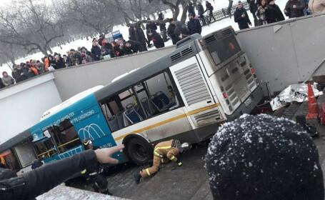 Cinci morți, după ce un autobuz a intrat într-un pasaj pietonal, în Moscova. Declarațiile șoferului