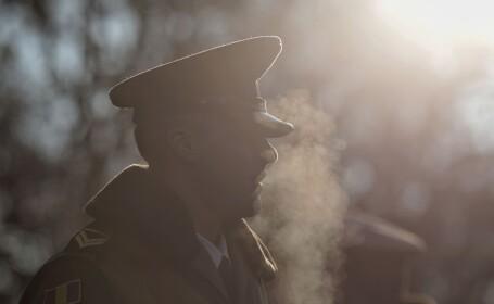 militar in ger la parada de 1 Decembrie