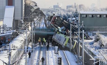 Accident feroviar în Turcia. Cel puțin 9 morți și zeci de răniți