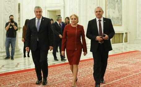 Calin Popescu Tariceanu, Viorica Dancila, Liviu Dragnea