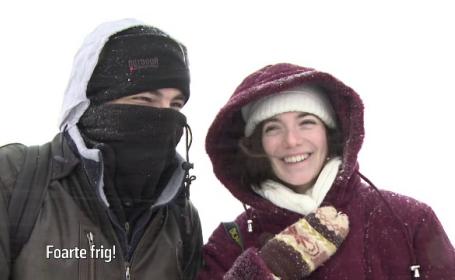 Reacția neașteptată a turiștilor străini la vederea Hotelul de Gheață de la Bâlea Lac