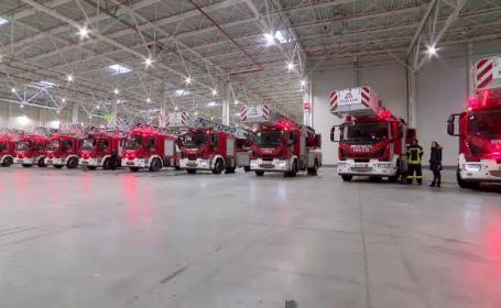 Autoscări noi, pentru pompierii din toată țară. Au fost cumpărate cu fonduri europene