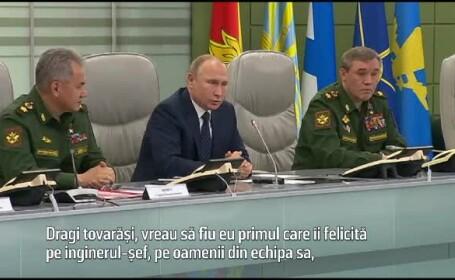 Putin la lansarea rachetei Avangard