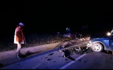 Accident în județul Cluj. Trei oameni la spital și cinci autoturisme grav avariate