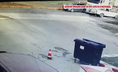 Momentul în care un tir intră pe contrasens și provoacă un accident mortal. VIDEO