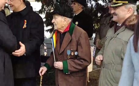 Povestea veteranului de război de 100 de ani, ignorat la parada de Ziua Națională de la Vâlcea
