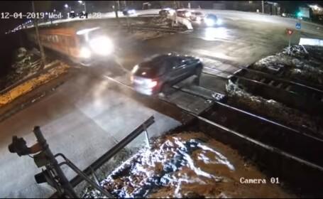 Momentul în care un șofer neatent din Cluj evită la milimetru o tragedie. VIDEO