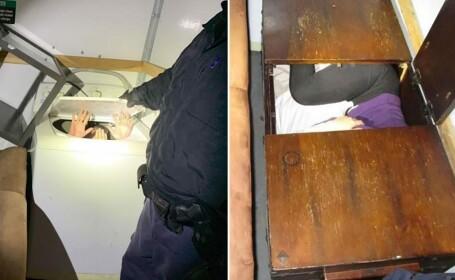 Ce au găsit polițiștii într-un camion plin cu mobilă și aparatură electrocasnică