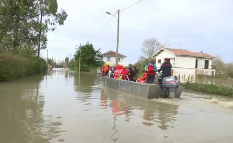 Franța este în stare de alertă. Trei persoane au murit în inundații