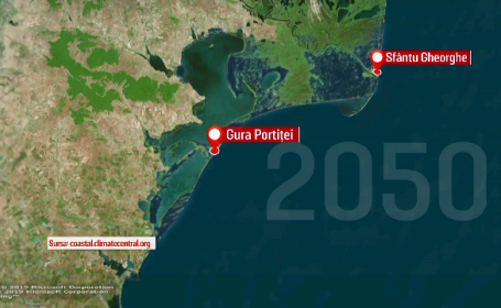 Regiunile din România care ar putea fi înghiţite de ape până în 2050. HARTA dezastrului