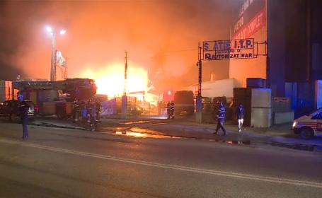 Incendiu pe Soseaua Fundeni