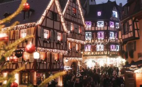 Colmar, cel mai frumos oraș francez de Crăciun. Oamenii, amendați dacă nu își decorează casele