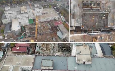 """Cele nouă etaje ale spitalului """"Marie Curie"""" pentru copii cu cancer, ridicate într-un singur an, din donații"""
