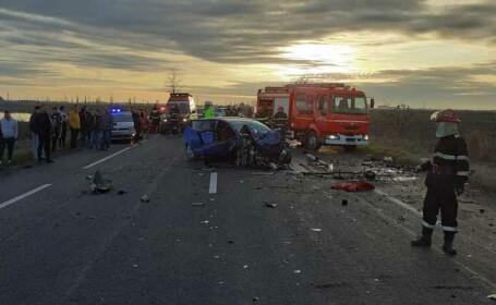 Accident pe DN 2. Trei persoane au murit și alte patru sunt rănite. Planul roșu, activat