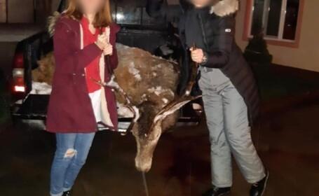 """Cum a """"sărbătorit"""" o tânără din Bihor vânătoarea de cerbi. Imaginea care a revoltat internetul"""