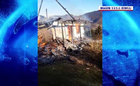 Bătrână arsă de vie, în Bistrița- Năsăud. Nu a mai apucat să iasă din casa în flăcări